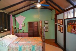 Fou Fou Room interior with Queen size bed