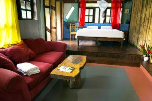 Jwa Room living area and King size bed