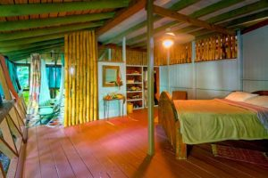 Tree House sleeping area with Queen size bed