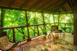 Tree House sitting area with garden view